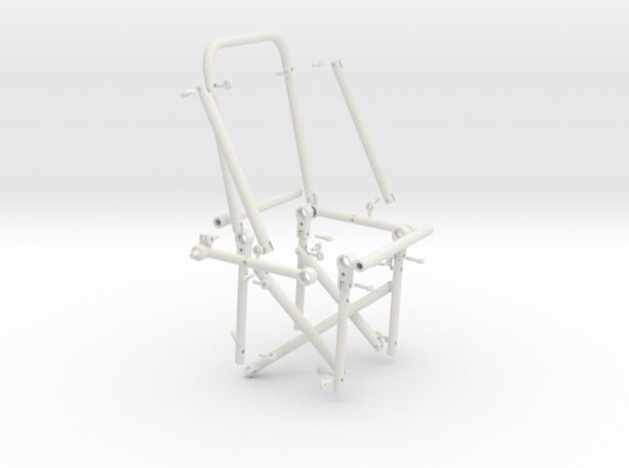 Huey - Single Rear Cabin Seat - Dissembled (Rev 6) 3d printed