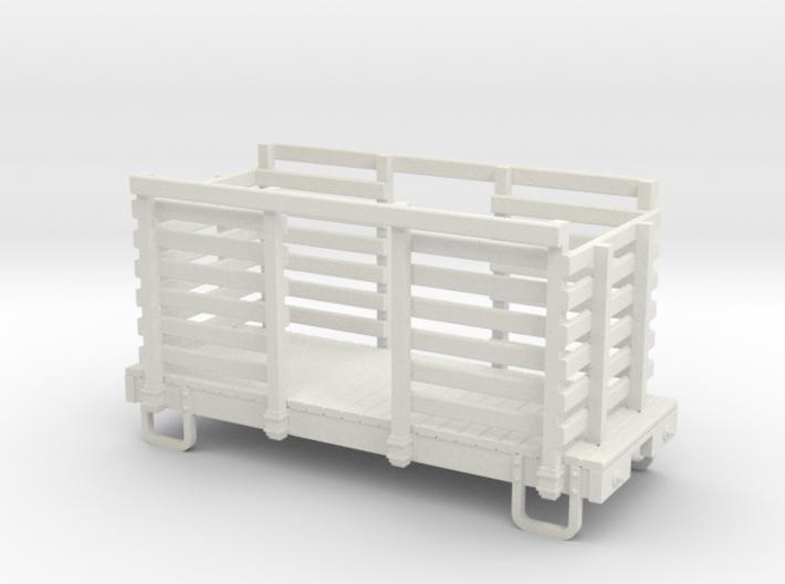 On18 12ft Pulpwood Flatcar 3d printed