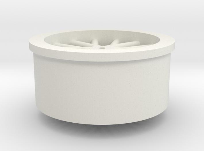 Wheel - miniz size -1.0mm shaft 3d printed