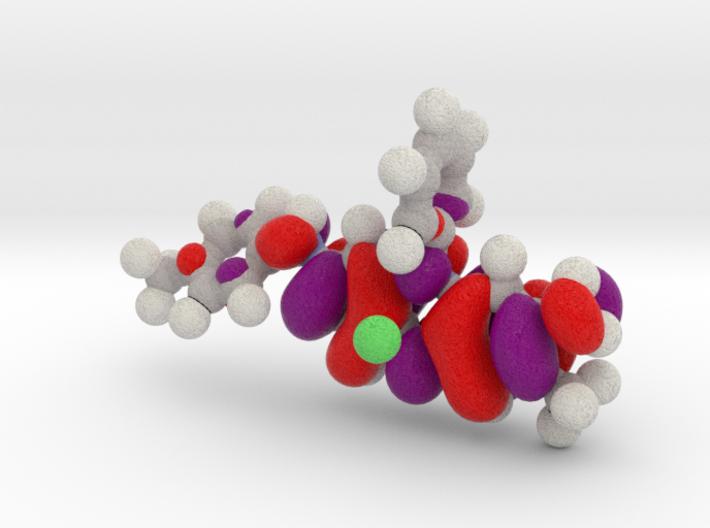 Mauveine LUMO molecular orbital 3d printed