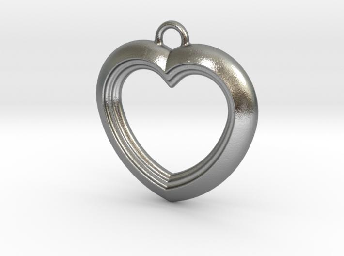 Cascading Heart Pendant 3d printed