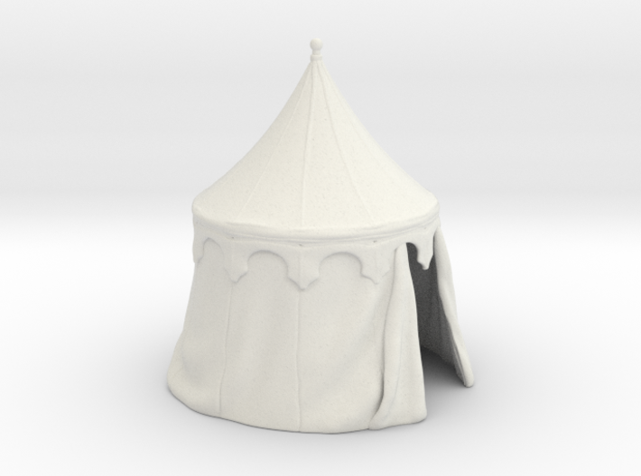 Medieval round tent, updated 3d printed