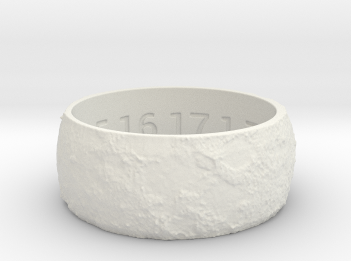 Lunar Surface Ring Size 12.5 3d printed