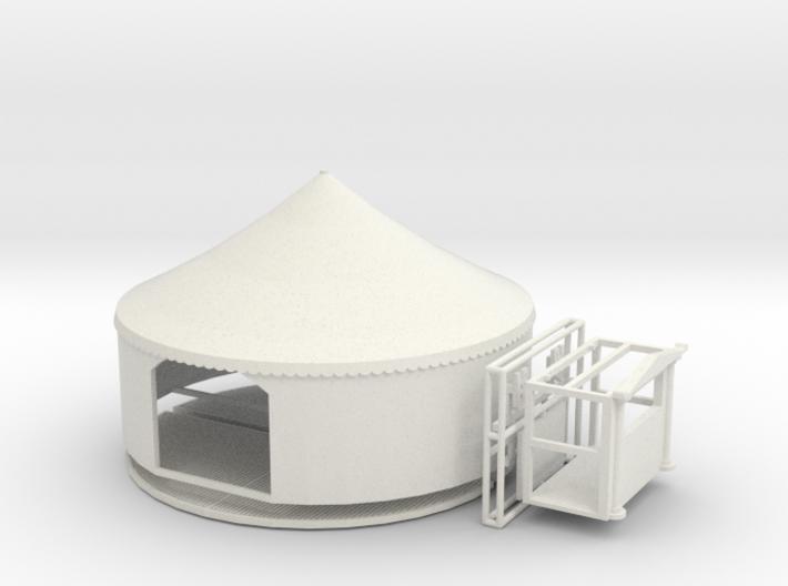 Puppenbühne mit Zelt für 1:87 (H0) - repariert 3d printed