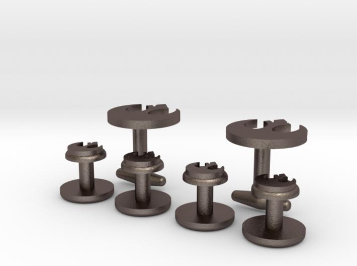 Rebel-Alliance Cufflinks & Studs 3d printed