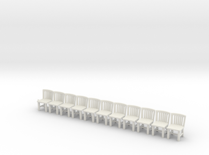 S Scale Simple Chairs X10 3d printed