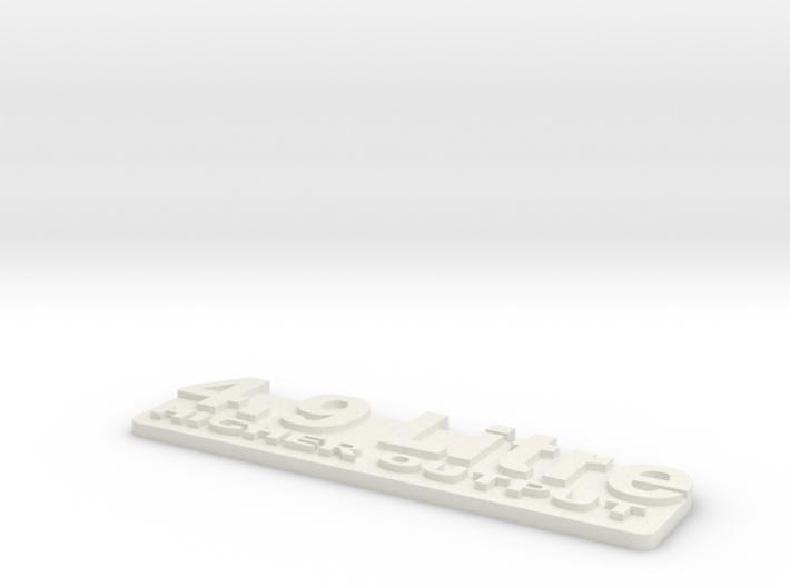4.9L Stroker Badge 3d printed