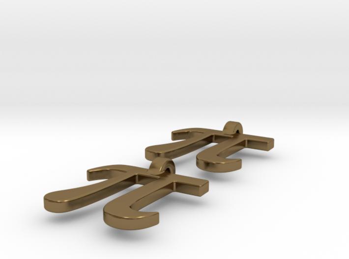 Pi Math Symbol Earrings 3d printed