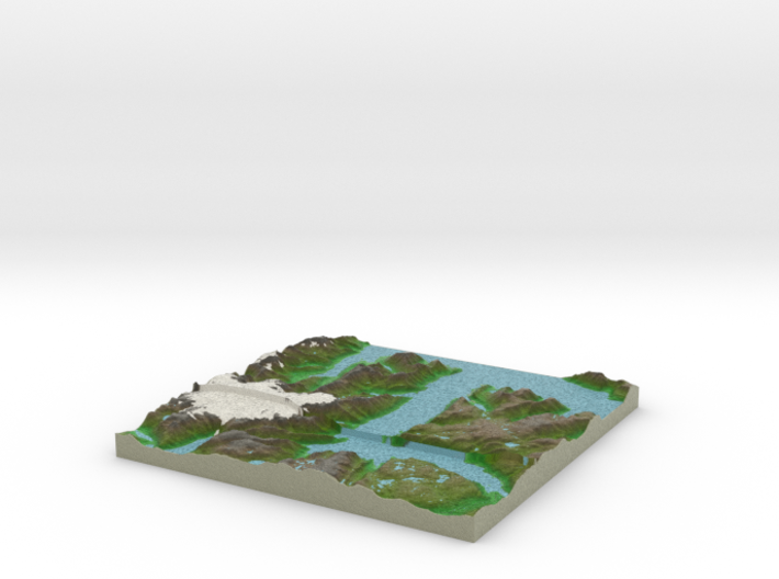 Terrafab generated model Mon Sep 30 2013 22:13:07 3d printed