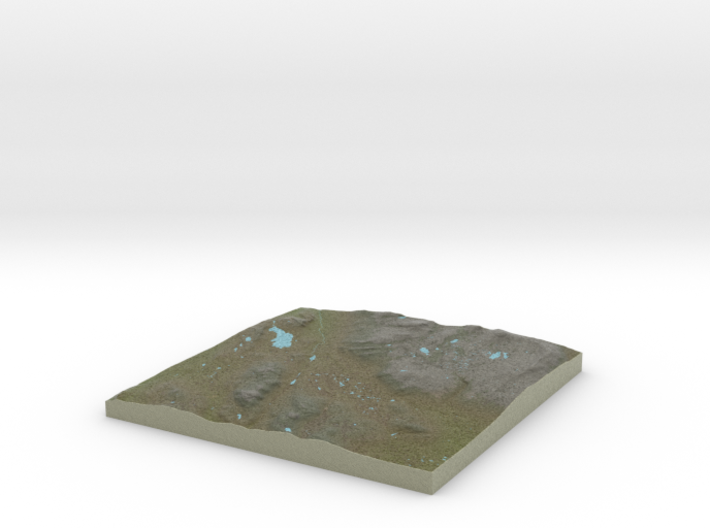 Terrafab generated model Wed Oct 02 2013 15:08:20 3d printed