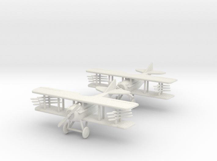 "SPAD VII ""Rocket Duo"" 1:144th Scale 3d printed"