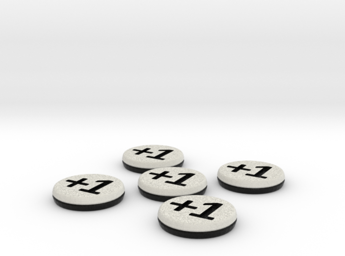 Plus/Minus Counters (Batch of 5) 3d printed