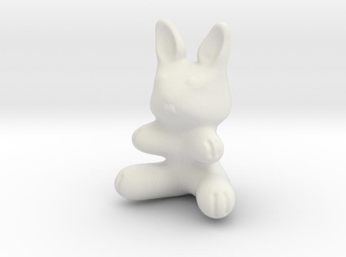 Plastic Bunny (2in./5.08cm) 3d printed