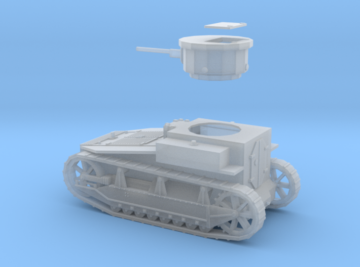 PV19B T1E2 Light Tank (1/ 72) 3d printed
