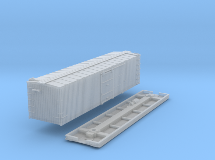 N-Scale D&SL 53000 Series Boxcar Kit 3d printed