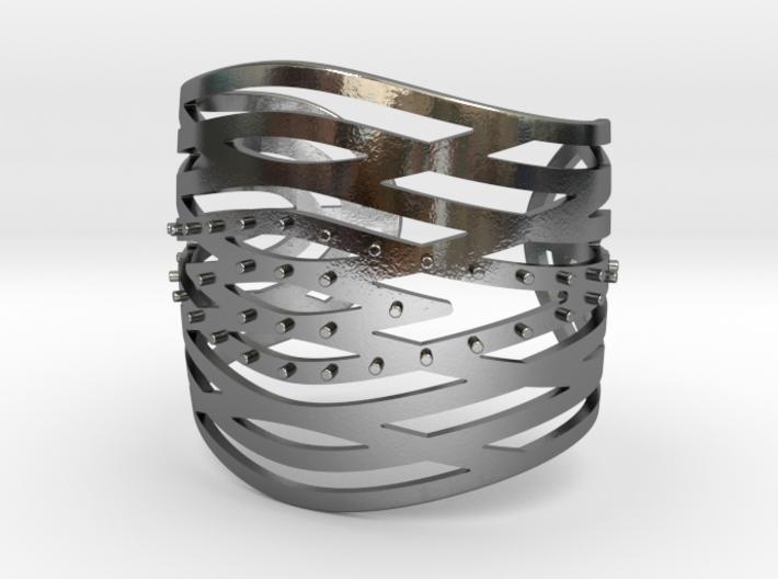 Crisscross Cuff 3d printed