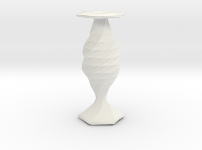 twisted fish flower  vase 3d printed