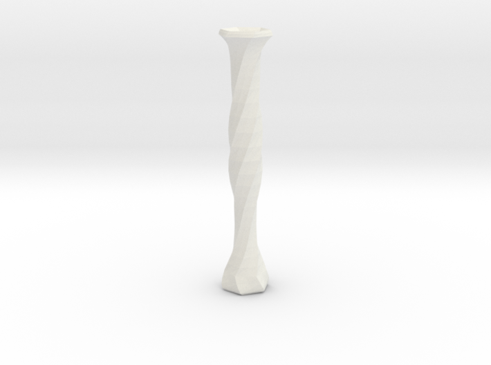 twisted flower tube vase 3d printed