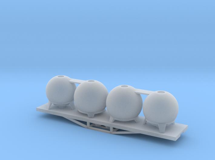 URC Cement Wagon, New Zealand, (NZ120 / TT, 1:120) 3d printed