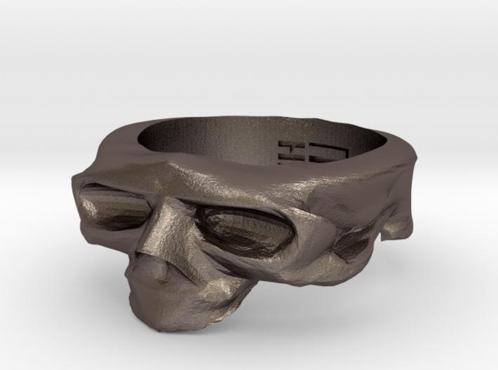 Splitted Skull Ring 3d printed
