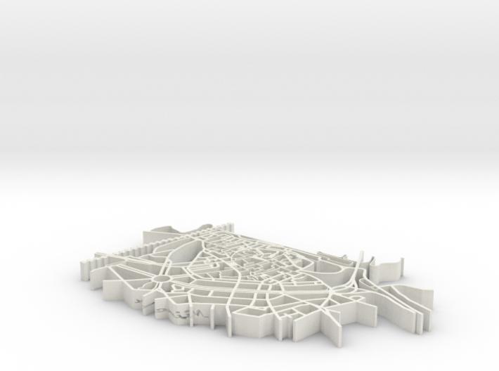 Map of Nijmegen 3d printed
