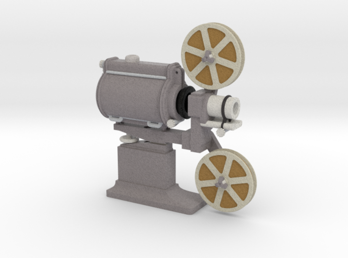 Vintage Cinema Projector 1:20 Scale 3d printed