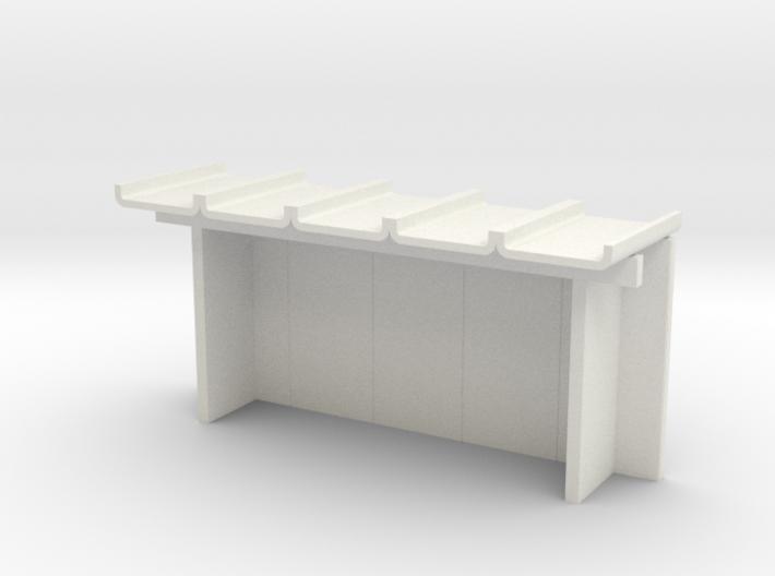 Wartehalle klein H0 3d printed