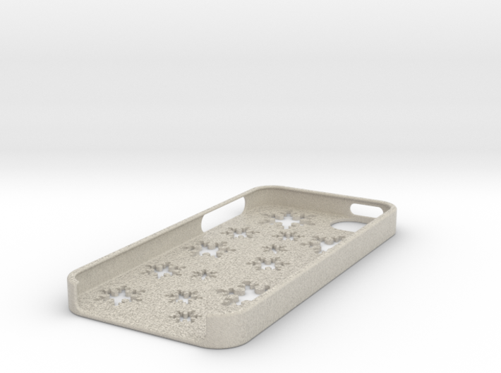 Snowflake iPhone 5 case 3d printed