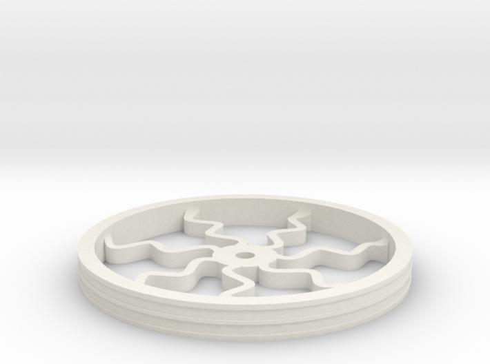 100mmFloppyBotWheel-04 3d printed