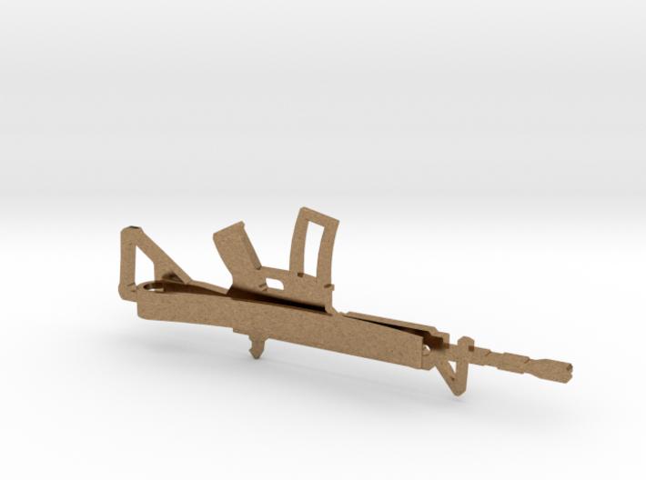 AR-15 MONEY/TIE CLIP 3d printed