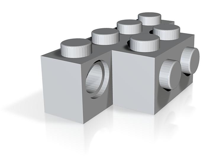 Custom Lego 1x4 Modified TuppH 3d printed