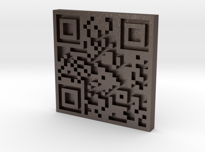 QRCode -- http://sergeyche.com 3d printed