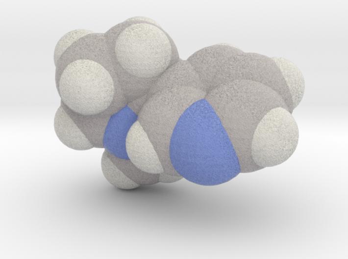 Nicotine molecule (x40,000,000, 1A = 4mm) 3d printed