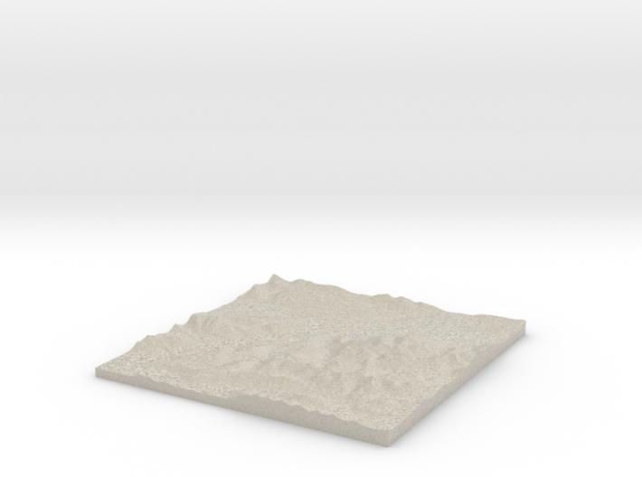 Model of Glen Nevis 3d printed
