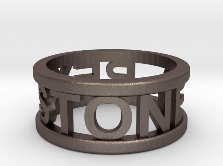 Name Ring 3d printed