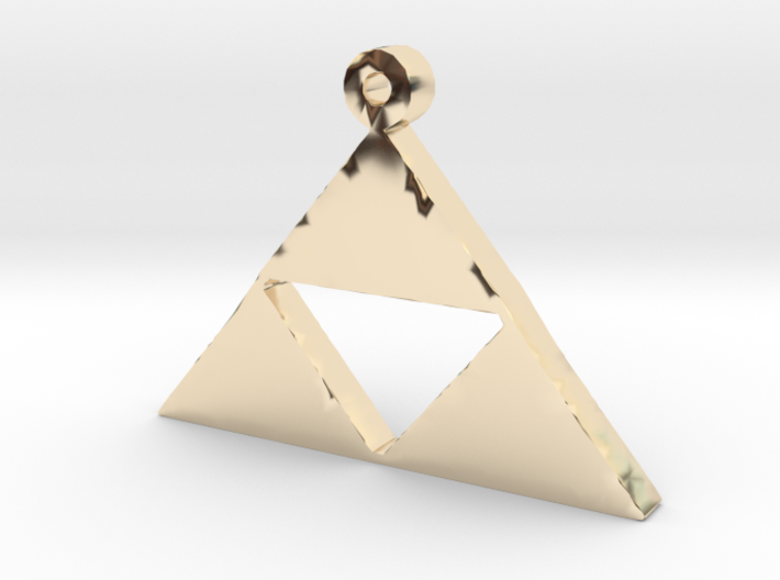 Triforce Pendent 3d printed