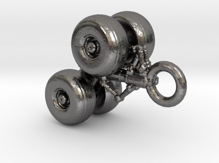 Flugzeugfahrwerk Schlüsselanhänger 3d printed