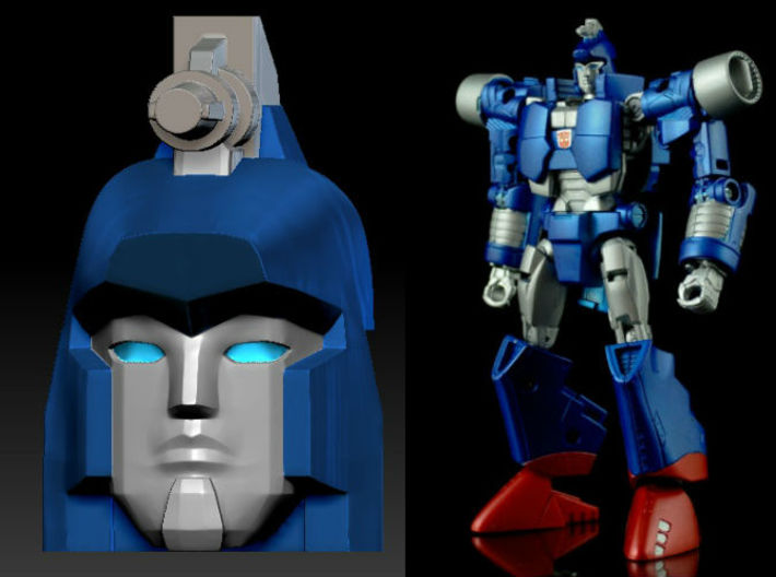 DEVCON Apex Head for GenScrg 3d printed Painted Apex Head Only in Clear Frosted Ultra Detail on TF. Gen. Scourge Deluxe Toy