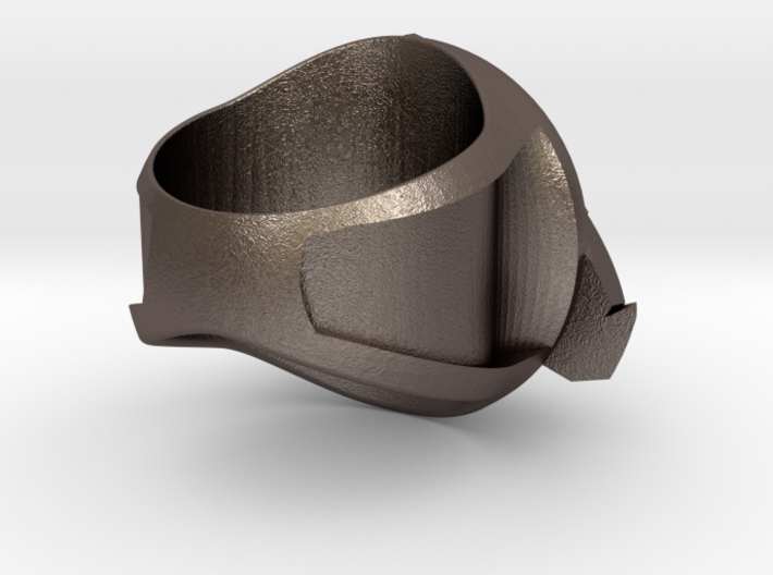 Knight Wing Ring 3d printed