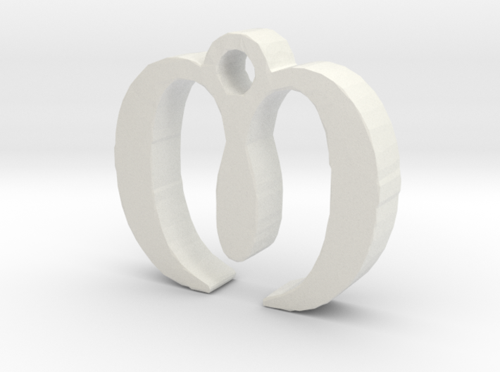 M Necklace 3d printed