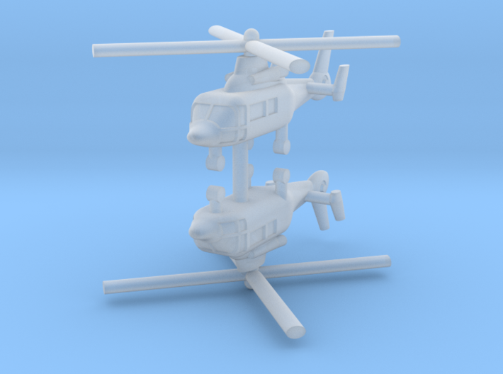 1/600 Eurocopter AS365 Dauphin (x2) 3d printed 1/600 Eurocopter AS365 Dauphin (x2)