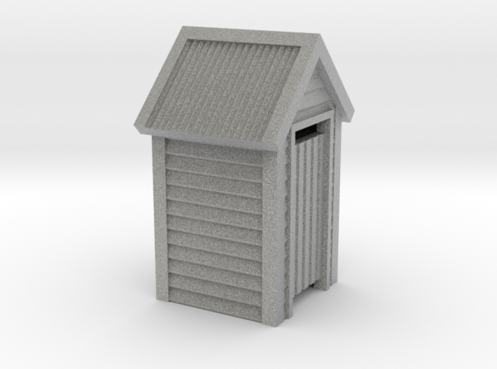 O Scale Wooden Outdoor Toilet Dunny 1:48 3d printed