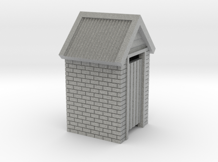 O Scale Brick Outdoor Toilet Dunny 1:48 3d printed