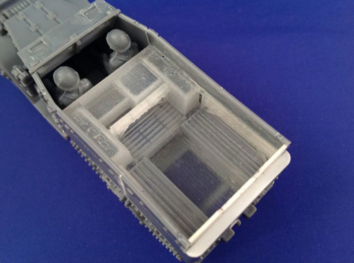 7202 • British M14 Half-track Body 3d printed Conversion used on Plastic Soldier Company M5 half-track kit