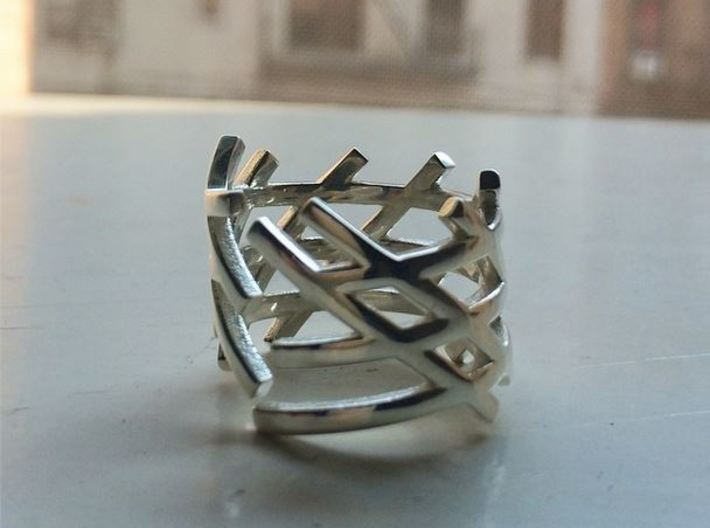 Caged Lines 3d printed
