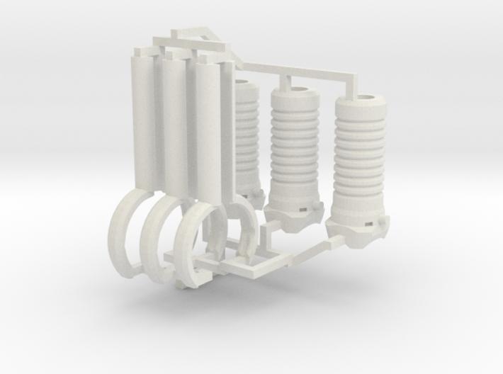 1:6 scale M203 Vertical Grip Set 3d printed