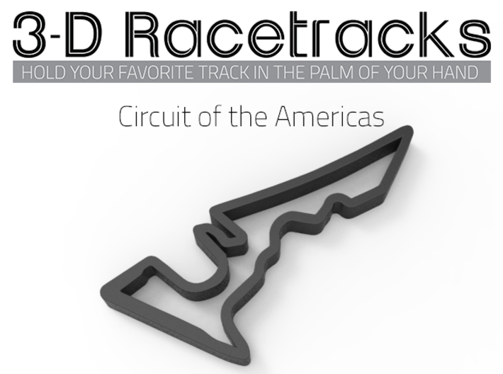 Circuit of the Americas 3d printed Track with no run off areas