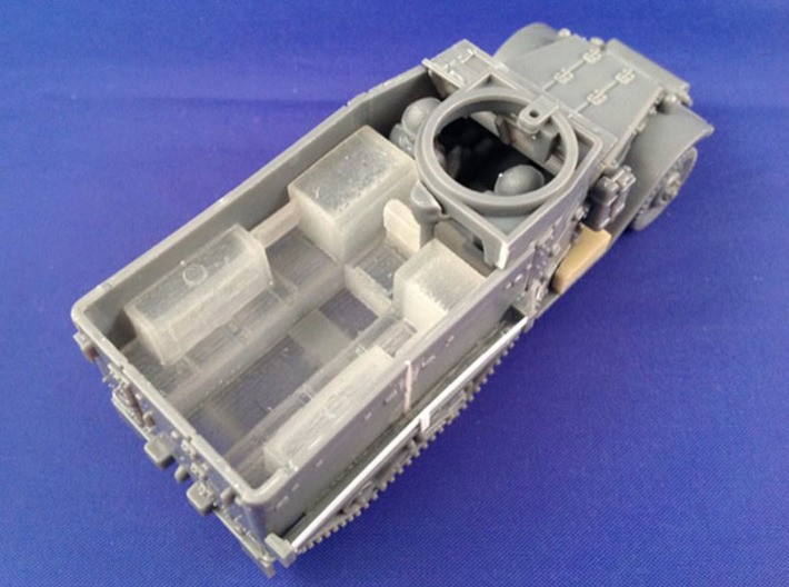 7201A • 2×M9A1 Half-track Body 3d printed Conversion used on Plastic Soldier Company M5 half-track kit