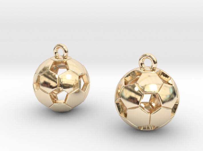 Soccer Balls Earrings 3d printed