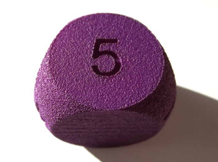 D5 Sphere Dice 3d printed In Purple Strong and Flexible